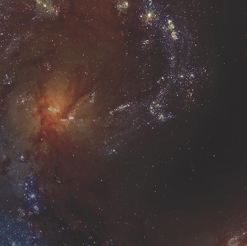 Stars in space on dark background