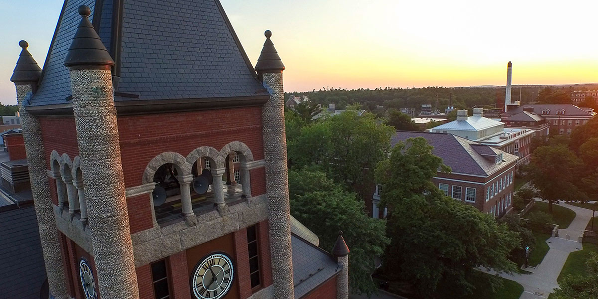 UNH T-Hall sunset