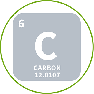 icon of carbon element