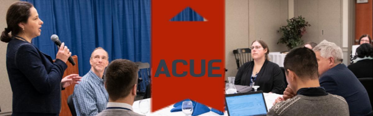 A.C.U.E. banner