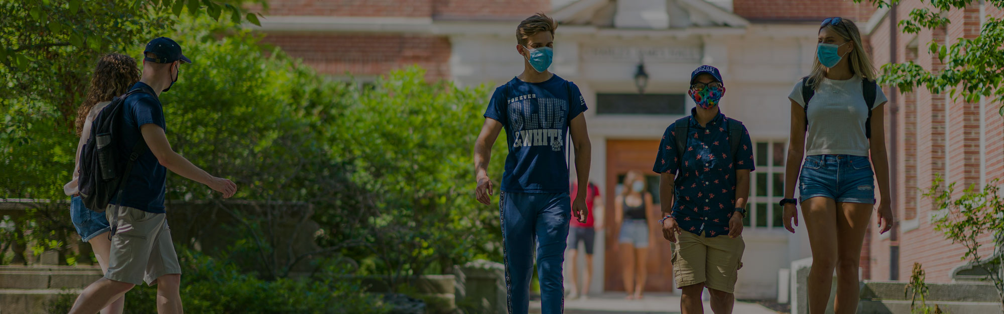 unh students wearing masks