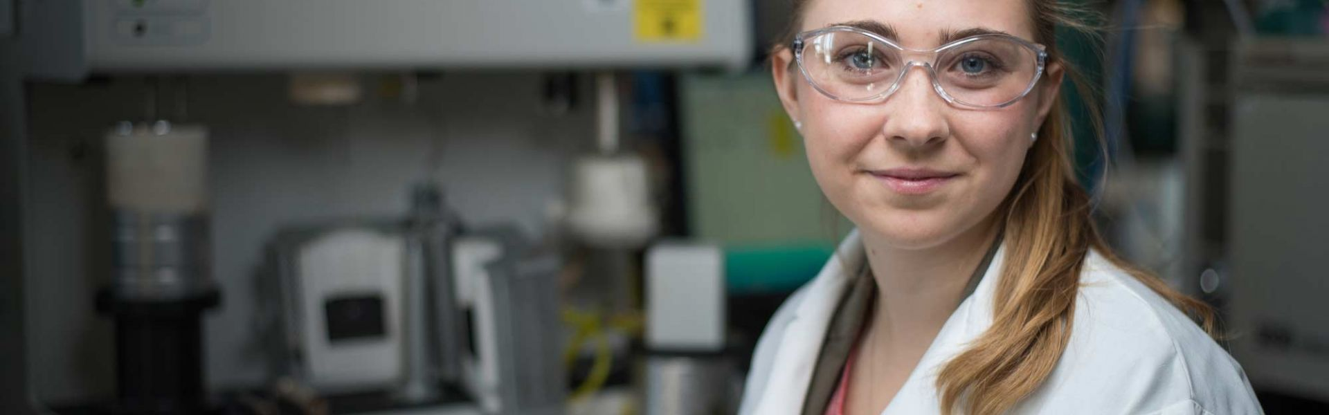 Female engineering student in lab