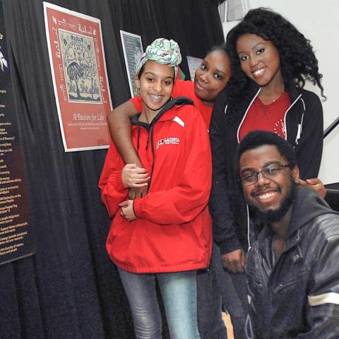 Students at MLK Celebration