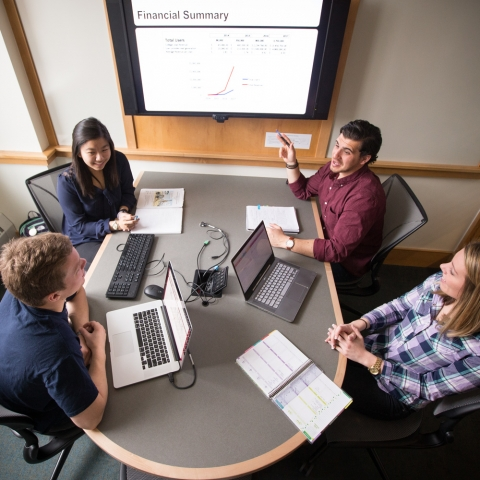 students meeting in breakout room