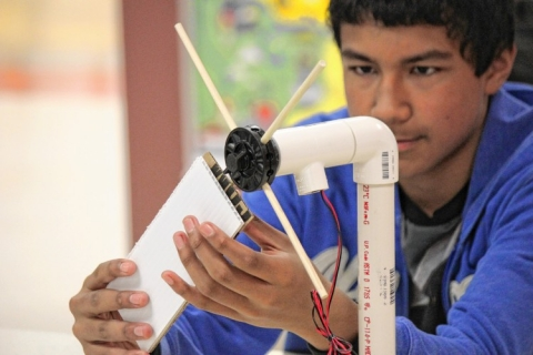 Student builds windmill for stemfest