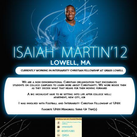 Isaiah Martin  | Alumni Profile