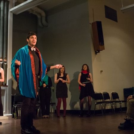 UNH student sings from the opera Carmen