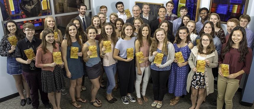 Photo of Hamel Scholars with Dr. Eliga Gould