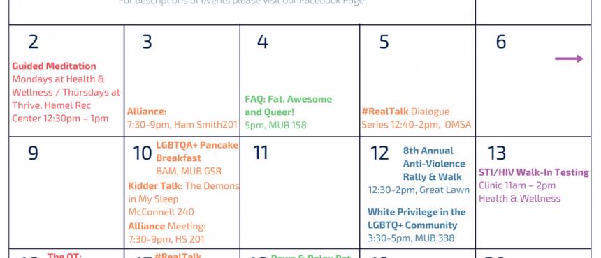 Gaypril: Campus Pride Month