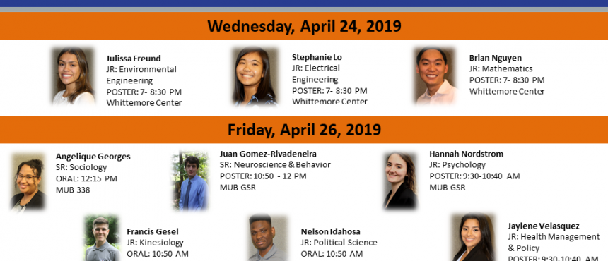 2018 Summer Cohort Presents Research at Undergraduate Research Conference at UNH