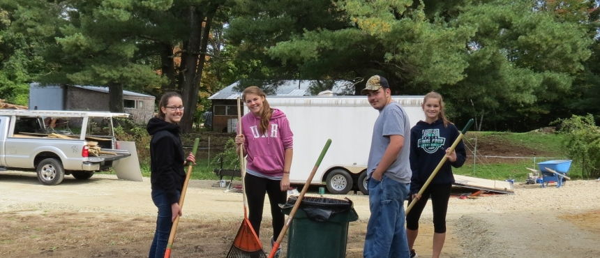 Photo of Hamel Scholars at Habitat for Humanity Build