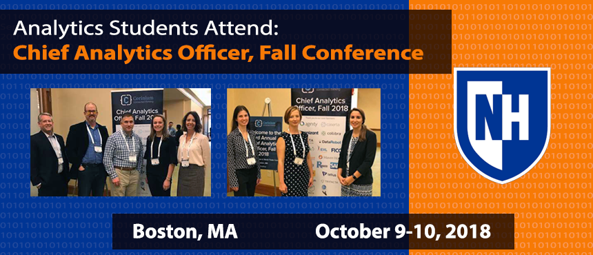 Analytics Students Attend Chief Analytics Officer (CAO) Conference Fall 2018