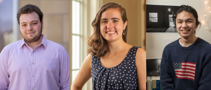 2018 Fulbright recipients Tyler, Madison, Eden