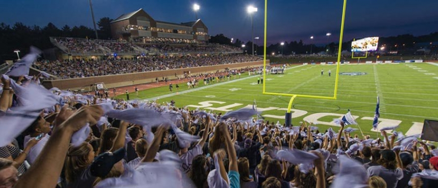 Homecoming football game with UNH fans