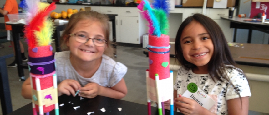 campers with their BrushBots