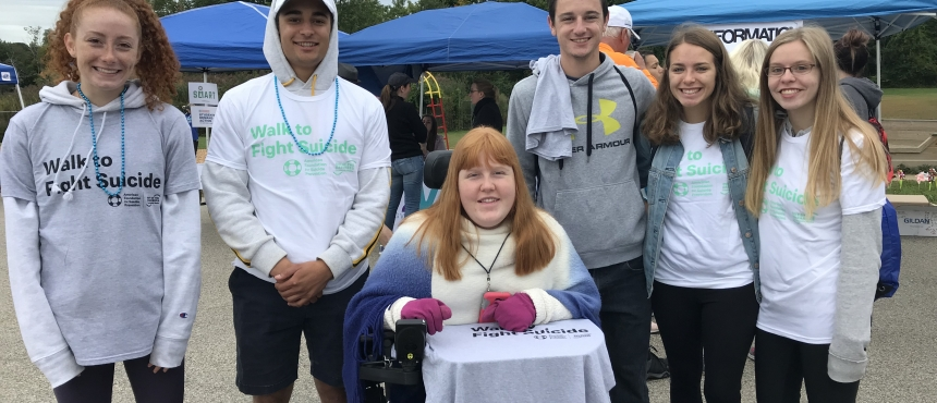 Photo of Hamel Scholars Volunteering at the Out of the Darkness Walk