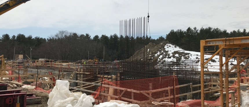 The Water Treatment Plan, a partnership between the Town of Durham and UNH, is starting to move full steam ahead with construction.