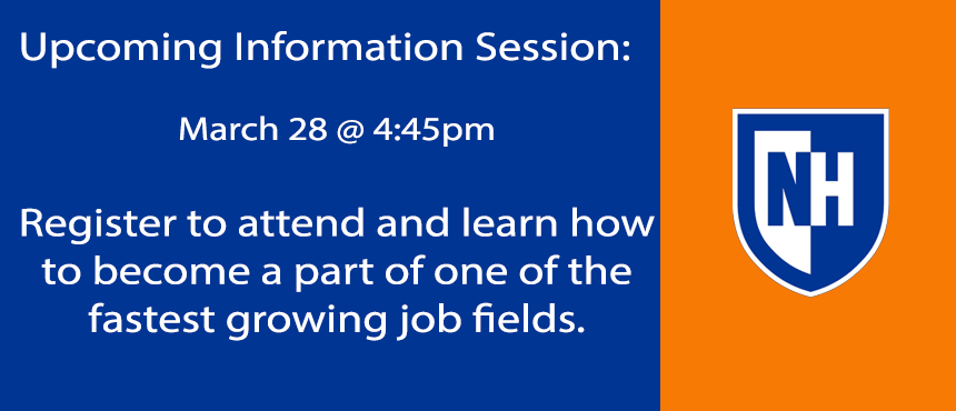Program Information Session on March 28, 2018 at 4:45pm