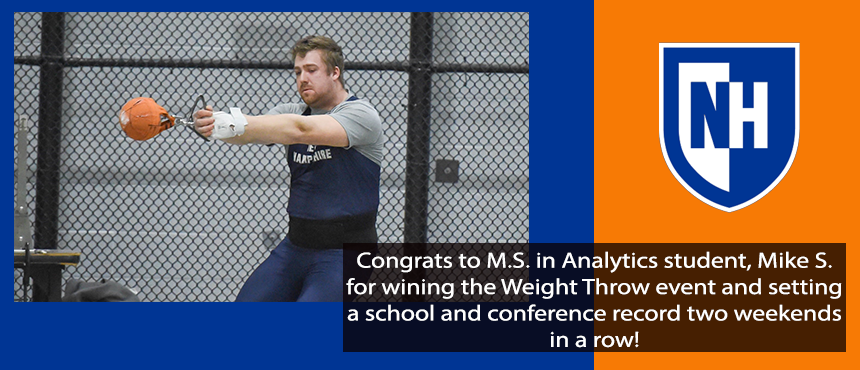 Congrats to Mike Shanahan for winning the Weight Throw and setting a conference record 2 weekends in a row