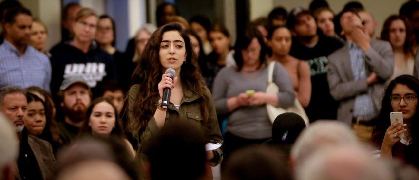 Student Senator Nooran Alhmadan