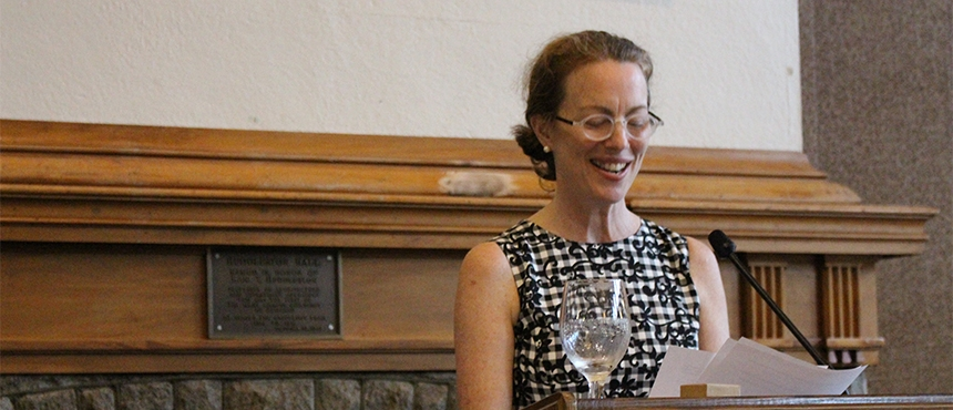 Catherine Peebles delivers Honors address in Huddleston Hall