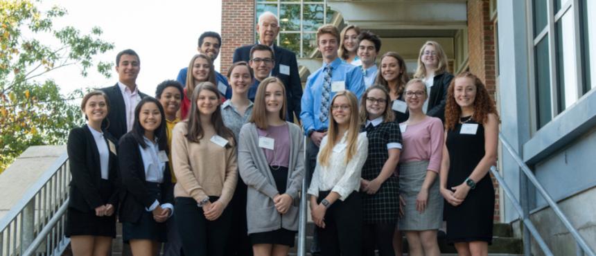 Photo of First-Year Hamel Scholars with Dana Hamel