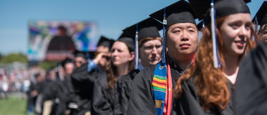 Photo of TRIO students graduating