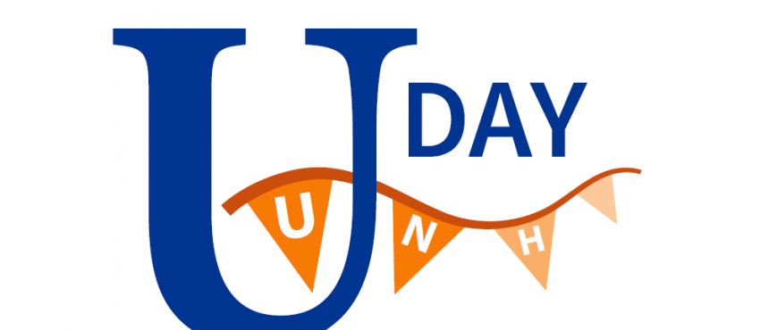 University Day logo with UNH pennant