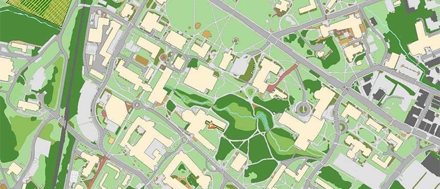 Durham Nh Unh Goss Building Map Www Imagessure Com