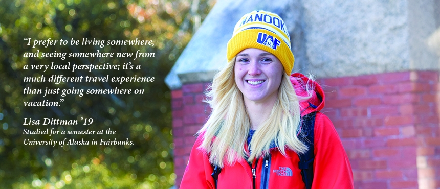 UNH student with quote