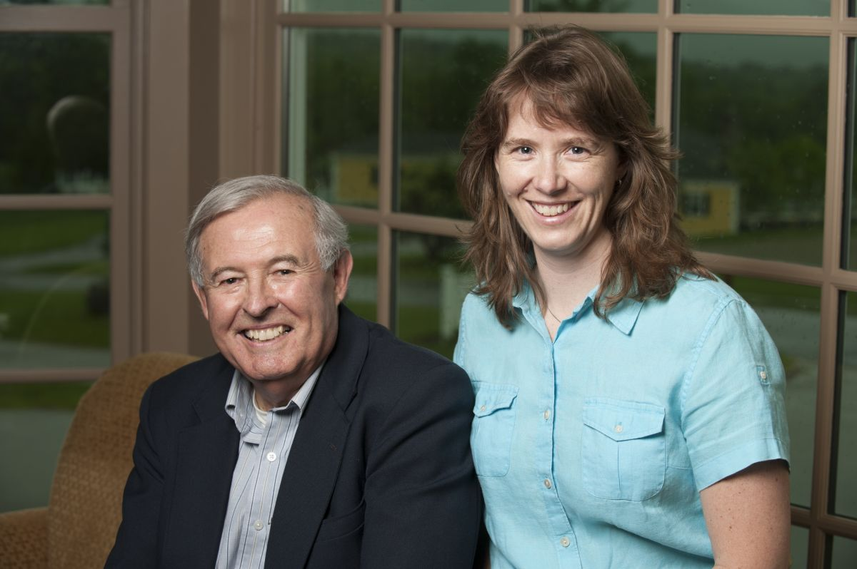 Professor Emeritus Barry Rock and  Professor Jo Daniel
