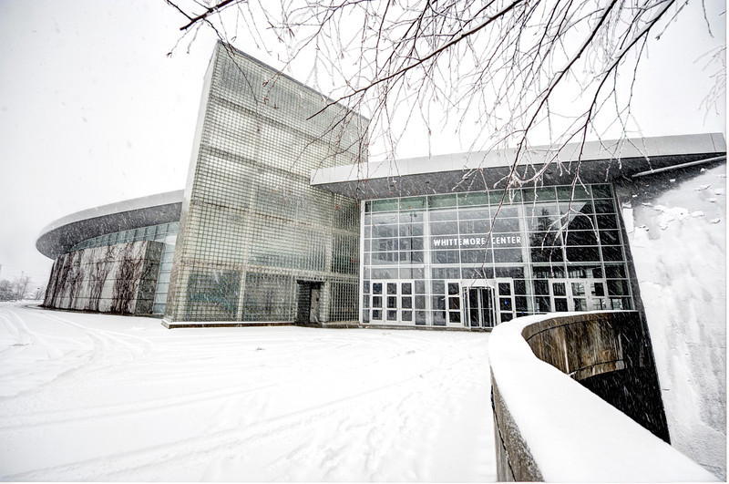 UNH's Whittemore Center Arena covered in snow