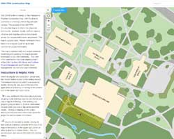Screenshot of UNH Construction Map