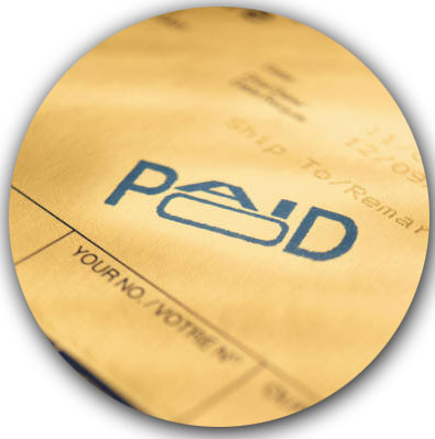 Image of a paid invoice