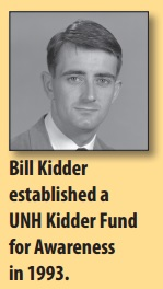 Bill Kidder established a UNH Kidder Fund for Awareness in 1993