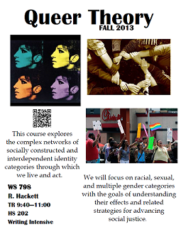 Flyer for Queer Theory Course