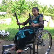 Woman in all-terrain Freedom Chair