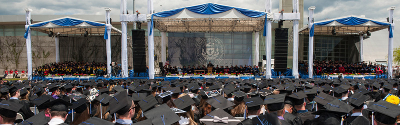 UNH commecement stage
