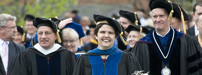 unh faculty at commencement