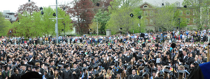 unh celebrating commencement