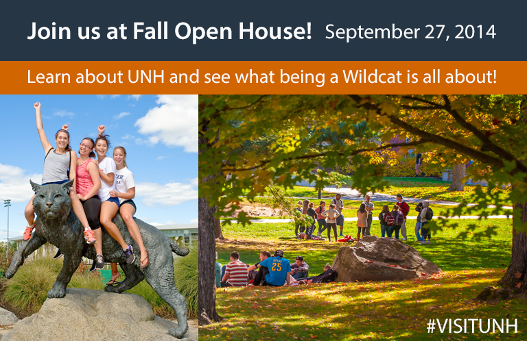 UNH Fall Open House graphic