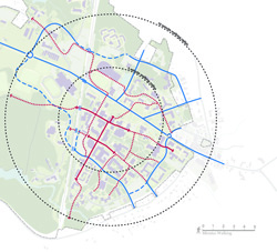 Campus Master Plan 2012 Map with walking paths