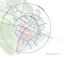 Campus Master Plan 2012 Map with walking paths