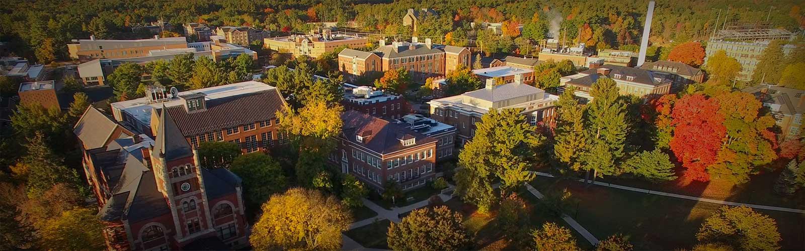 unh campus aerial shot