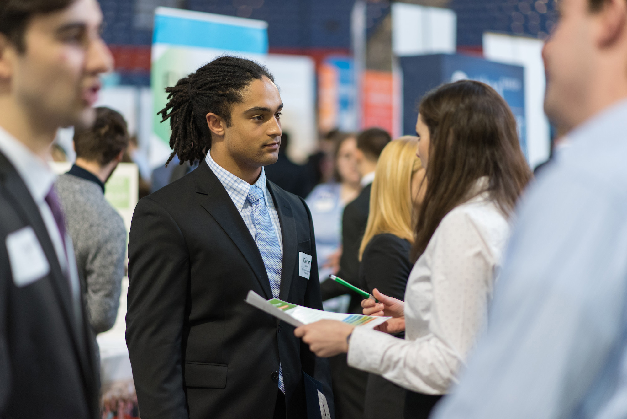 A career and internship fair at the University of New Hampshire