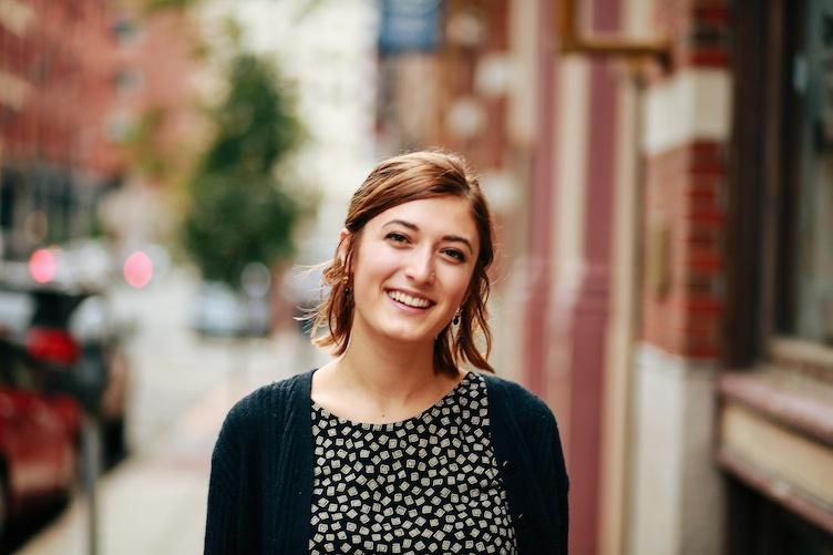 UNH student Dana Gingras '17 in Boston