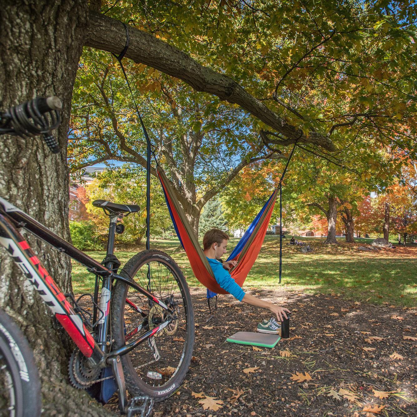 UNH campus during fall foliage season