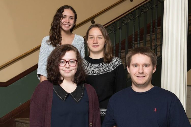 UNH students who received Gilman Awards