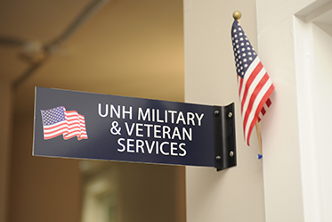 UNH Military & Veteran Services space in T-Hall at UNH
