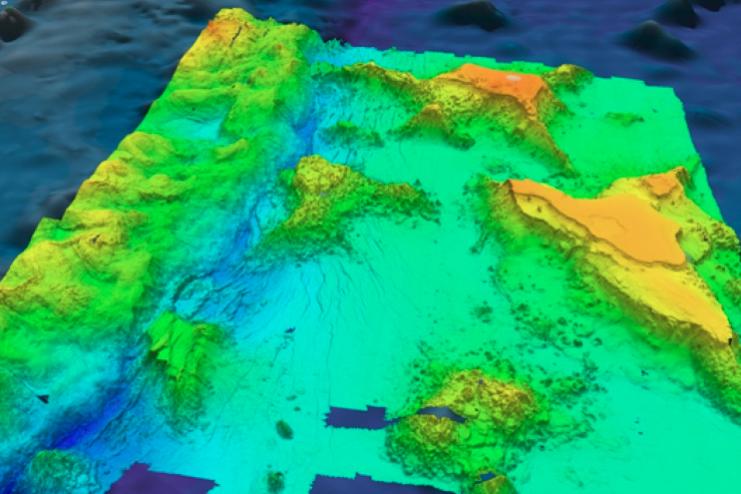 rendering of the seafloor